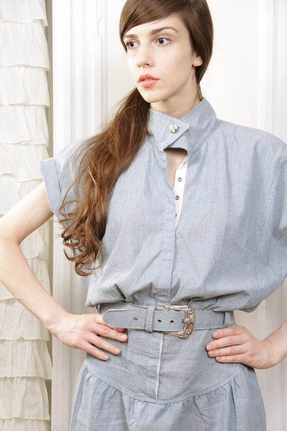 Elaine Chambray Denim Dress M