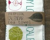 2011 Calendar Tea Towel