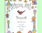 PDF PATTERN BOOK String Art Book Eight, 4 Bird Patterns, ornaments, decorations Digital Download