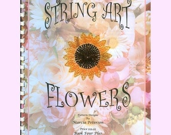 Flower String Art PATTERN Book Four, 7 Flower Patterns in PDF Instant Digital Download