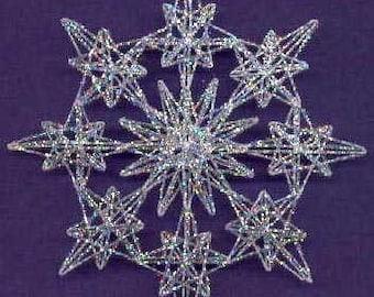PDF PATTERN, String Art Starburst Pattern, Decoration, Ornament, Christmas, Winter, SH02 Digital