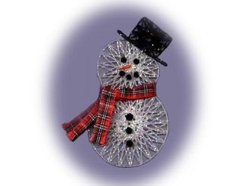 PDF PATTERN String Art Snowman, Christmas, Ornament, Decoration, Winter CH12 Digital