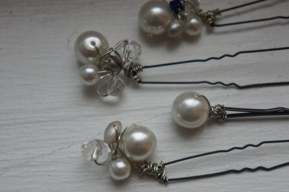 Bridal Hair Pins - Great for brides-Bridesmaids-formal-semi formal events- special occasions - wedding accessory