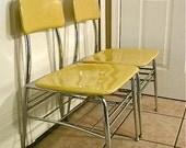 Vintage Heywood Wakefield / HeyWoodite Chairs in yellow