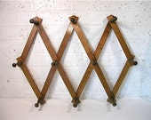 Vintage Accordion Peg Rack