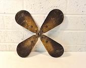 Vintage Industrial Salvage Fan Blade