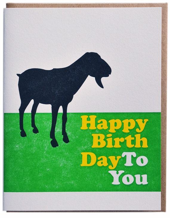 Happy Birthday Beach Boys Pet Sounds Letterpress Birthday Card
