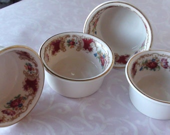 Vintage Dessert Set Romance Marron by Syracuse Excellent Condition Set of 4  On SaLe Now