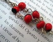 Peruvian Baby Huayruro Keychain - Good Luck - Red and Black - Avoid Evil Eye
