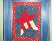 Red White and Blue Punchneedle Star