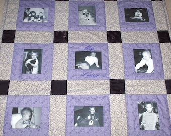 9 Photo Memory Quilt 4ft x 4ft