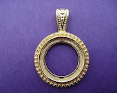 Gold Plated Cab Setting, 1 pc