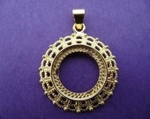 Gold Plated Fancy Cab Setting, 1 pc