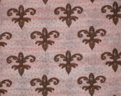 SALEHalf Yard Fleur De Lis Retro Glam By Kate McRostie for Springs Creative