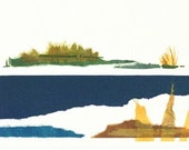 Landscape Collage fine Art Giclee Print by Kristen DeFontes