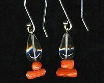 Crystal Coral Earrings