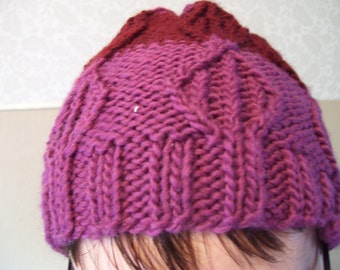 Tulip cable knit wool hat