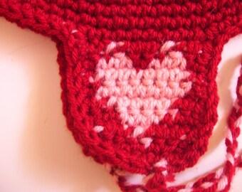 Sweet heart ear flap hat mens/womens/winter