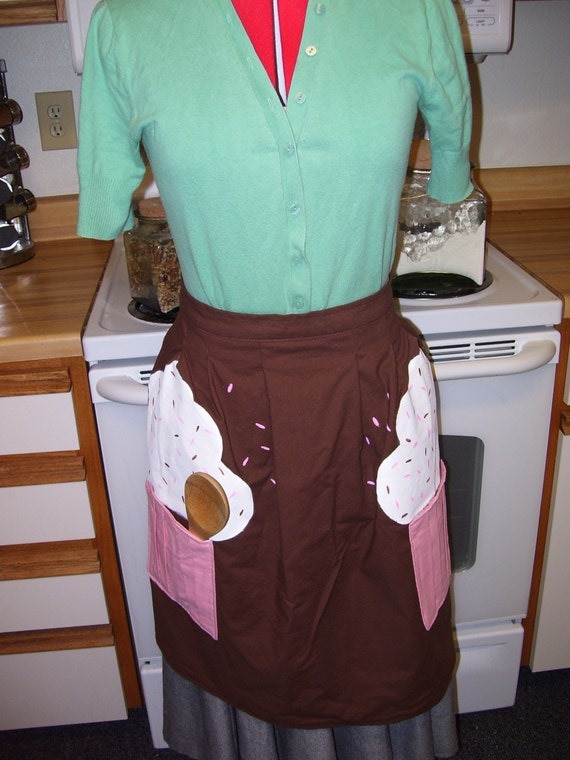 Clearance Sale Sweet Treat Cupcake Apron S/M