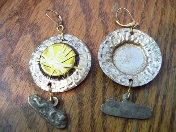 Yucca bottlecap earrings