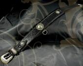 "Leather Bondage Collar - ""The Rancher"""