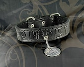 "Leather Bondage Collar - ""Puppy"""
