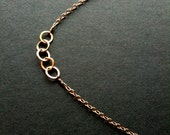 5 Simple gold circles. delicate necklace