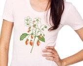 Women's Light Pink Strawberry Shirt, xsmall-xlarge