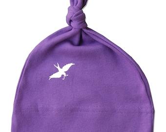 Purple Organic Baby Hat, newborn gift, Baby Knot Hat, baby beanie, organic baby clothes, baby girl, newborn organic clothes, baby girl gift