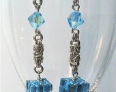 Cool Cubes and Crystals Earrings