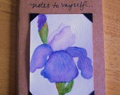 Mini Journal with Iris Original Painting