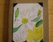 Mini Journal with Field Flowers Original ACEO painting