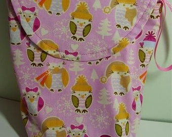 Winter Owls Diaper Case