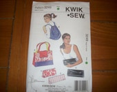 backpack, tote cluch , bags  pattern 3249, pattern Kwik Sew uncut