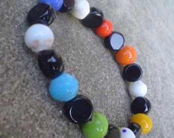 Rainbow Glass Beaded Bracelet