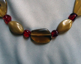 Golden Ruby Necklace