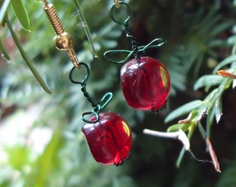 Cherry Wire Earrings