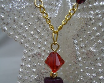 Millefiori Heart Necklace
