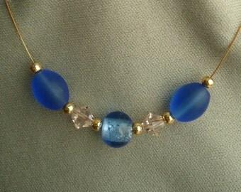 Silk Blue Necklace
