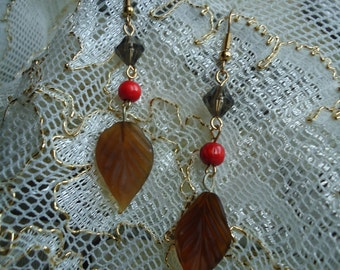 Red Autumn Earrings