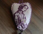 lavender dream necklace  with heart shaped