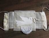 in spring time -  silk cuff / wearable art