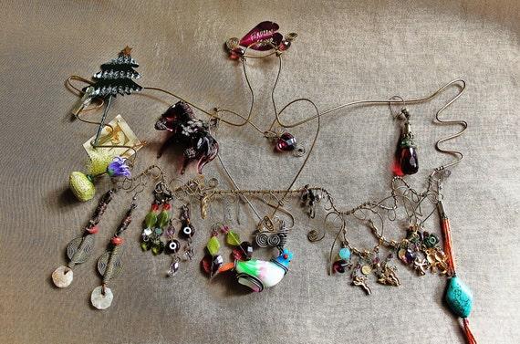 brass wire work angel- jewelry hanger - alternative angels - ooak