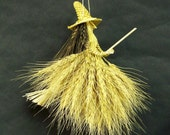 Kitchen Witch  House Blessing straw art. Wheat weaving