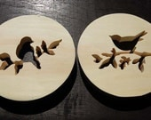 Bird Silhouettes - trivet set