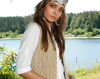beginner crochet vest pattern - Anika - crochet pdf pattern only