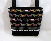 Dachshund Parade Zippered Handbag