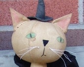 Primitive Halloween, Round Head Cat, Salem Cat Witch and Mouse EPattern