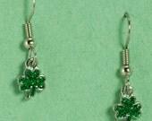 Very Small Silver Shamrock Earrings