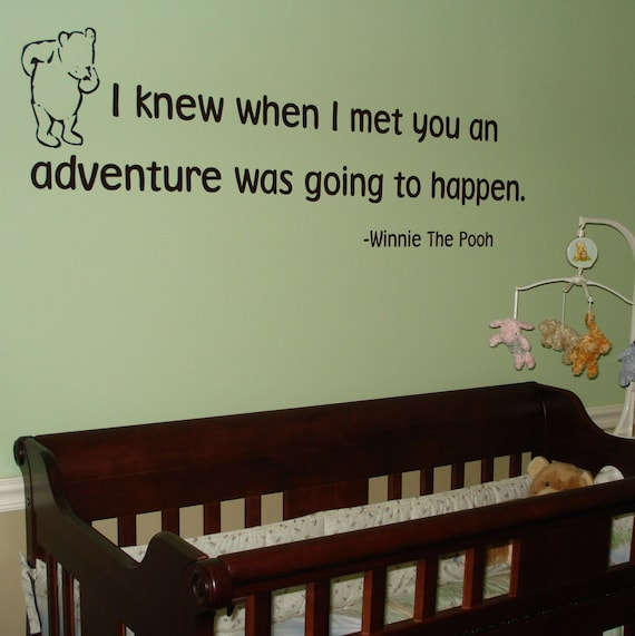 Winnie the Pooh  Adventure Wall Lettering Transfer Quote for Baby's Nursery Wall